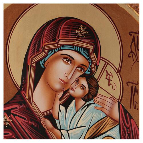 Ícone Nossa Senhora Madre de Deus Jaroslavkaja 40x30 cm pintado Roménia