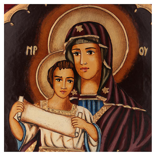 Icon of the Virgin Mary with Baby Jesus 25x25 cm 2