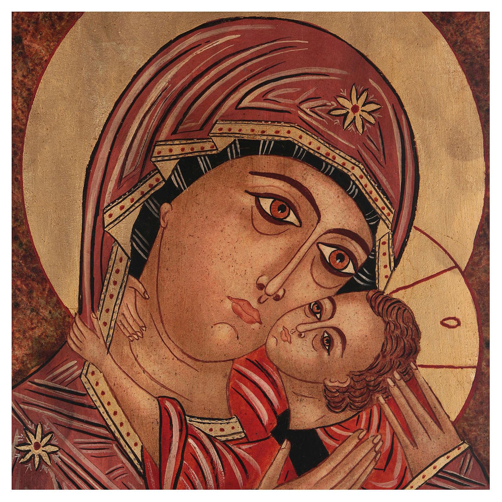 Icona Madre di Dio Kasperovskaja 35x30 cm dipinta Romania 4