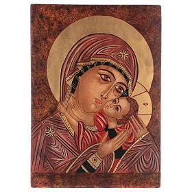 Icona Madre di Dio Kasperovskaja 35x30 cm dipinta Romania s1