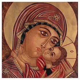 Icona Madre di Dio Kasperovskaja 35x30 cm dipinta Romania s2