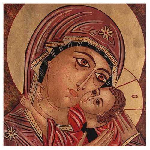 Icona Madre di Dio Kasperovskaja 35x30 cm dipinta Romania 2