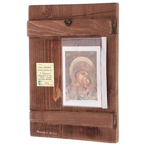 Icona Madre di Dio Kasperovskaja 35x30 cm dipinta Romania 3