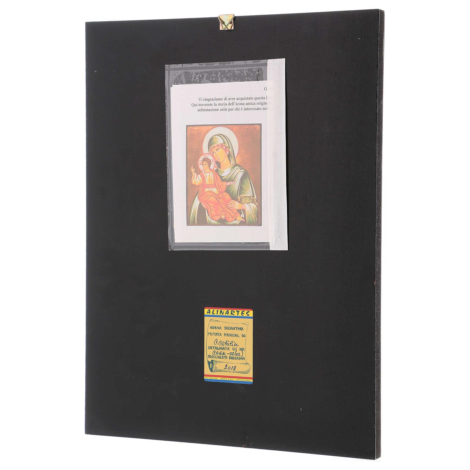 Icon of Our Lady of Eleus Kikks 40x30 cm 4