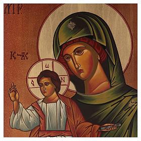 Icon of Our Lady of Eleus Kikks 40x30 cm s2