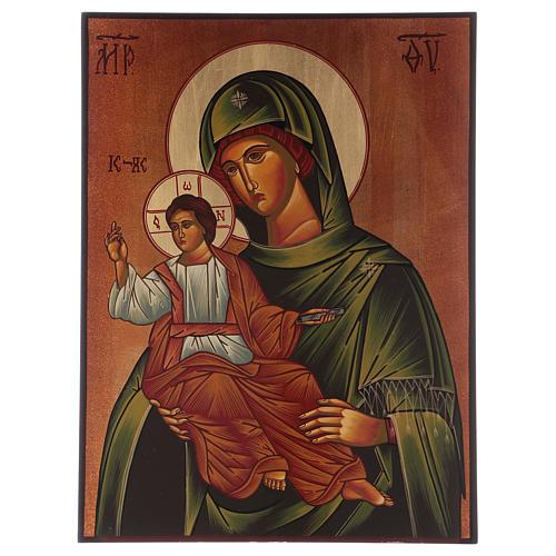 Icon of Our Lady of Eleus Kikks 40x30 cm 1