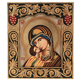 Icon of Our Lady of Vladimirskaja with frame 40x30 cm s1
