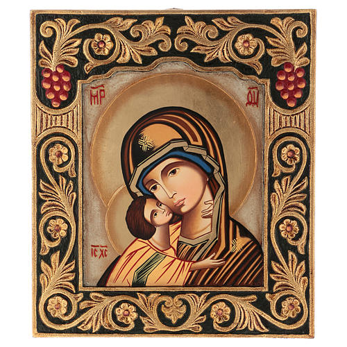 Icon of Our Lady of Vladimirskaja with frame 40x30 cm 1