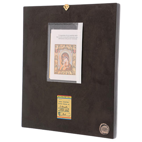 Icon of Our Lady of Vladimirskaja with frame 40x30 cm 3