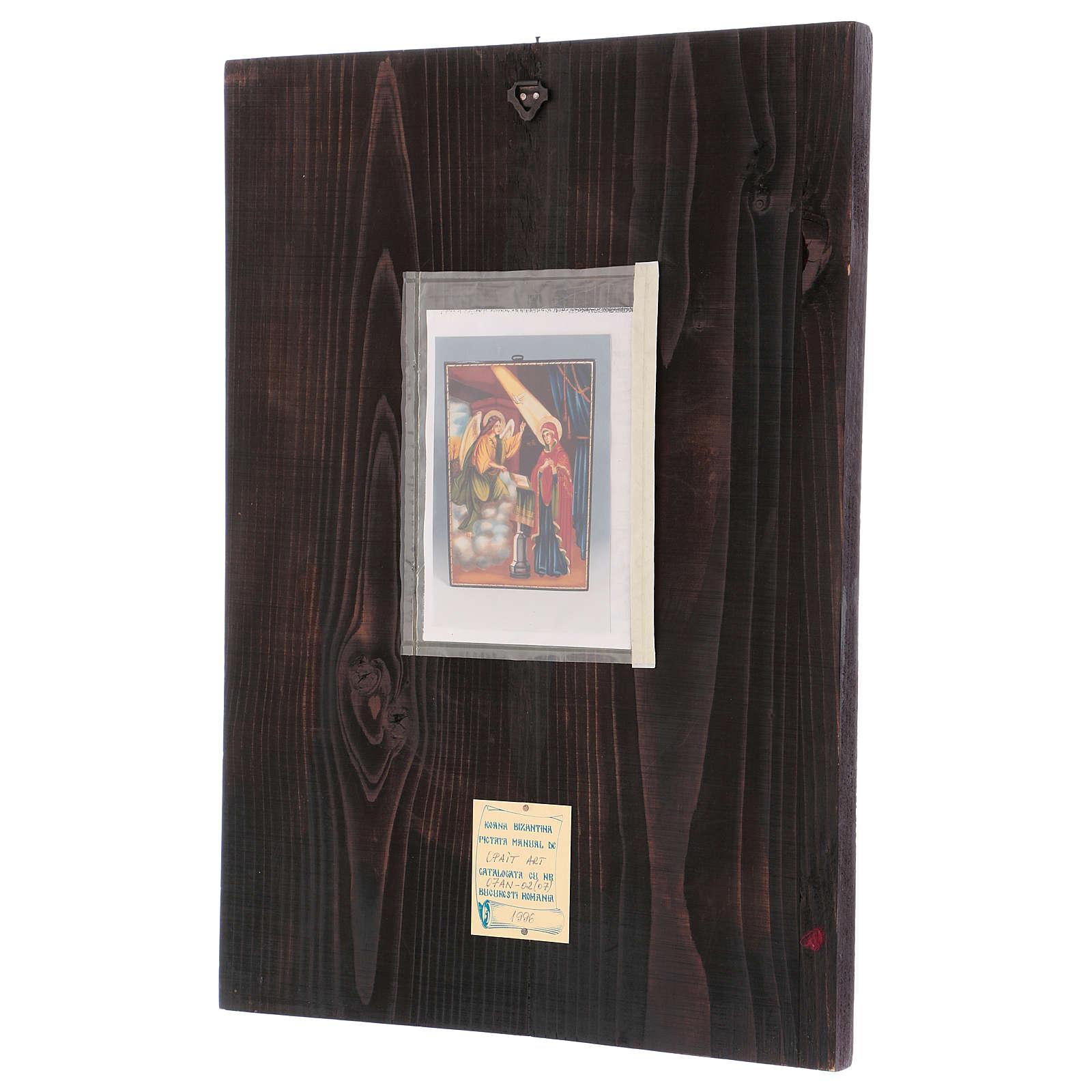Icona Annunciazione 40x30 cm dipinta Romania 4