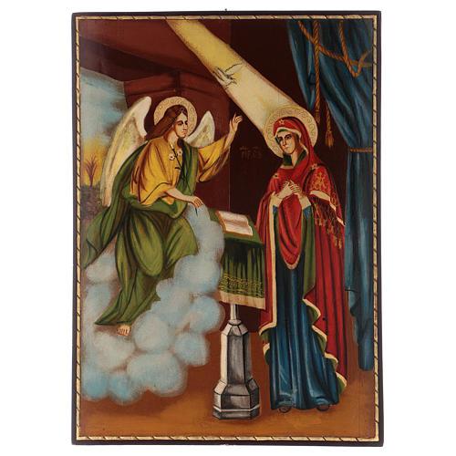 Icona Annunciazione 40x30 cm dipinta Romania 1
