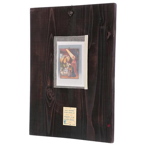 Icona Annunciazione 40x30 cm dipinta Romania 3