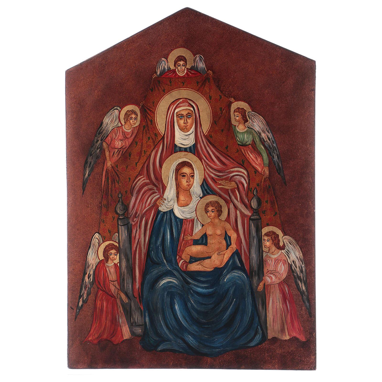 Icono Santa Ana Metterza 40x30 cm pintado Rumanía 4