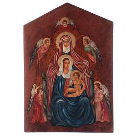 Icona Sant'Anna Metterza 40x30 cm dipinta Romania s1