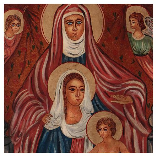 Ícone Santa Ana Metterza 40x30 cm pintada Roménia 2