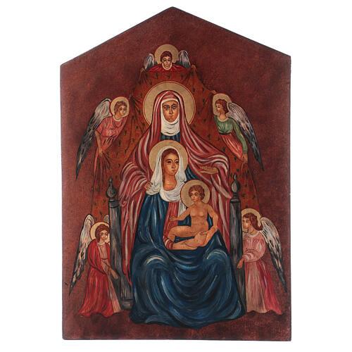 Icon Sant'Anna Metterza, 40x30 cm painted Romania 1