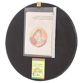 Icona tonda Madre di Dio Vladimirskaja diam. 28 cm dipinta Romania s3
