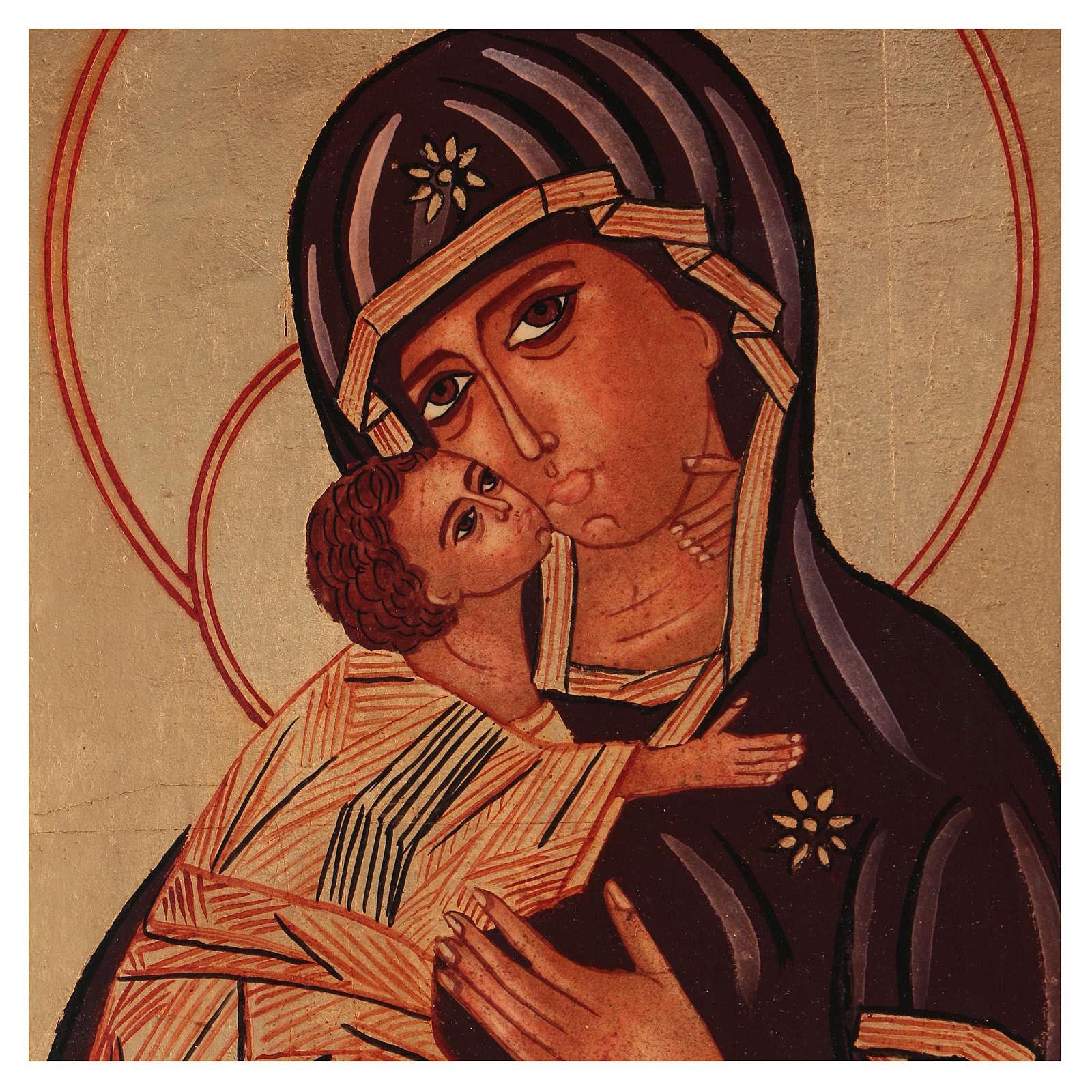 Icon of Our Lady of Vladimirskaja 40x30 cm 4