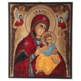 Icône Notre-Dame du Perpétuel Secours 40x30 cm peinte Roumanie