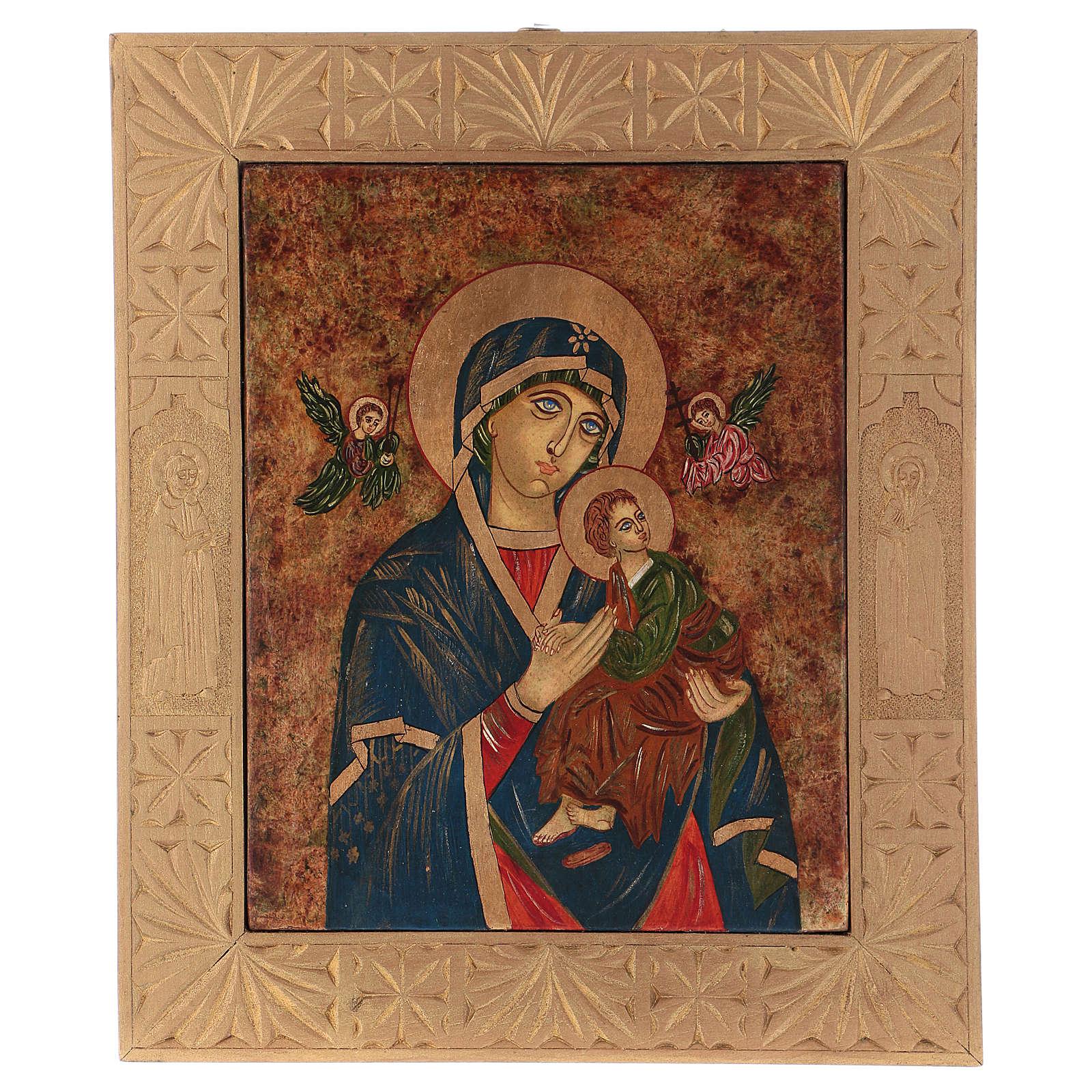 Icona Madonna del Perpetuo Soccorso 40x30 cm dipinta Romania 4