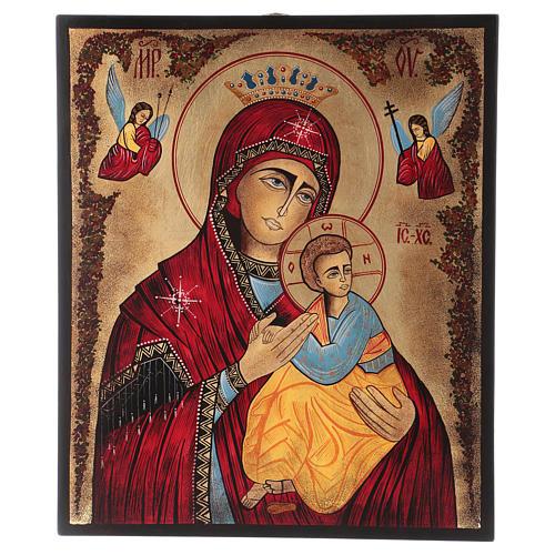 Icona Madonna del Perpetuo Soccorso 40x30 cm dipinta Romania 1