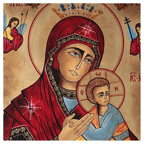 Icona Madonna del Perpetuo Soccorso 40x30 cm dipinta Romania 2