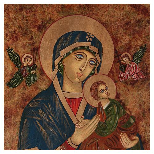 Icona Madonna del Perpetuo Soccorso 40x30 cm dipinta Romania 6