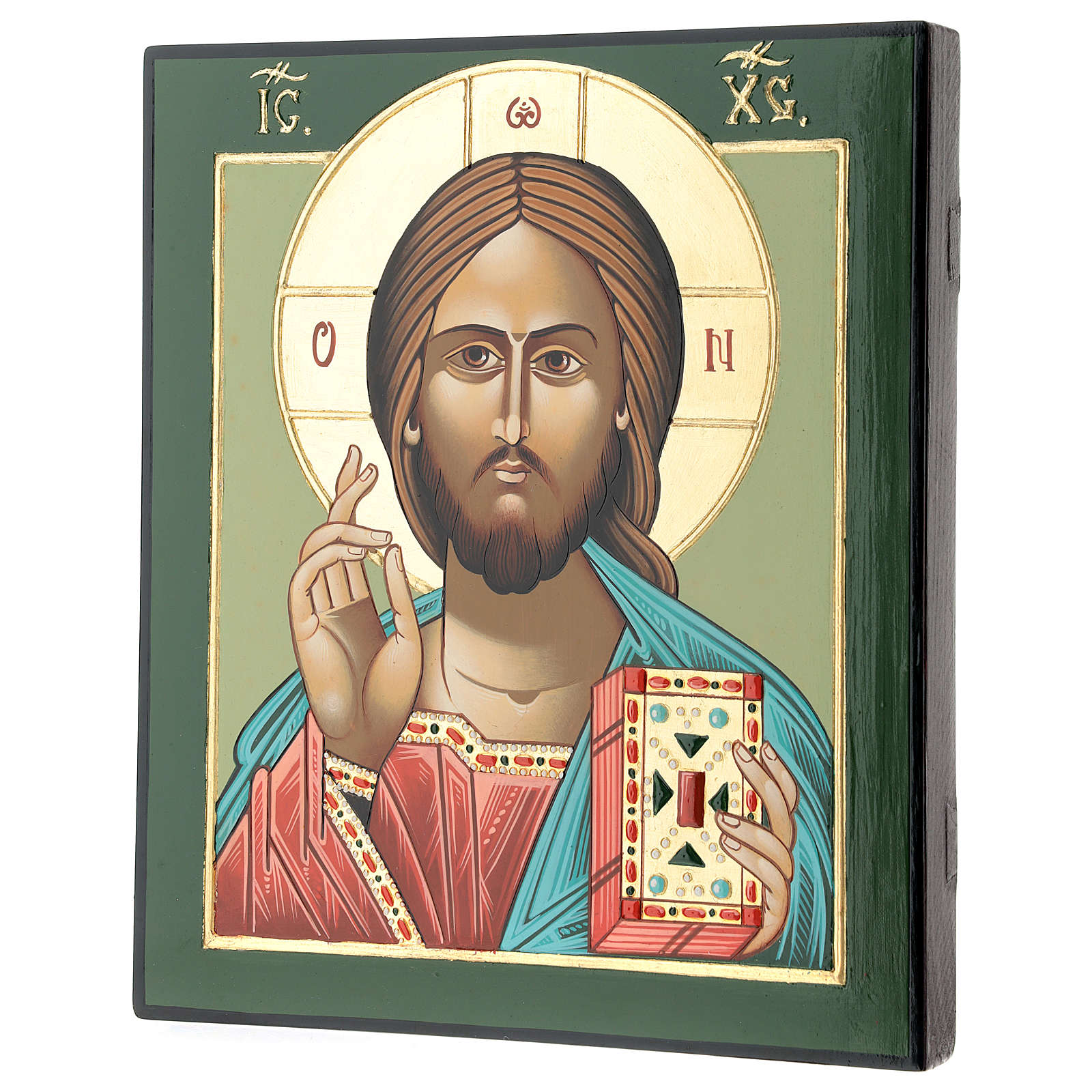Jesus Master and Judge 28x24 cm hand painted in Romania 4