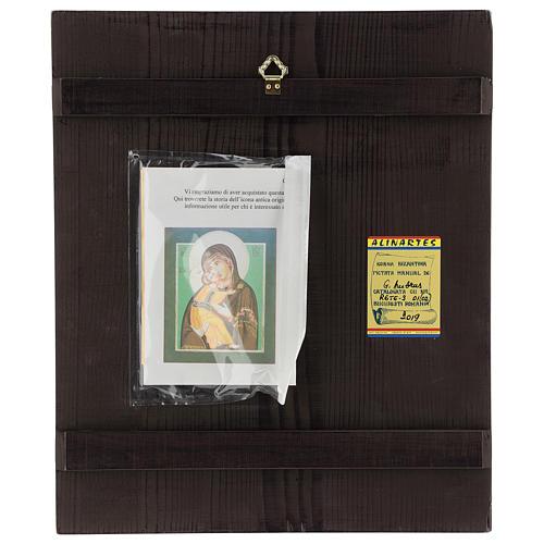Icona Madonna Tenerezza Vladimirskaja 35x30 cm Romania dipinta stile russo 4
