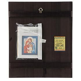 Icono Sagrada Familia 35x30 cm Rumanía pintado estilo ruso s4