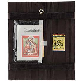 Icona Romania Santa Famiglia 32x28 cm dipinta stile russo s4