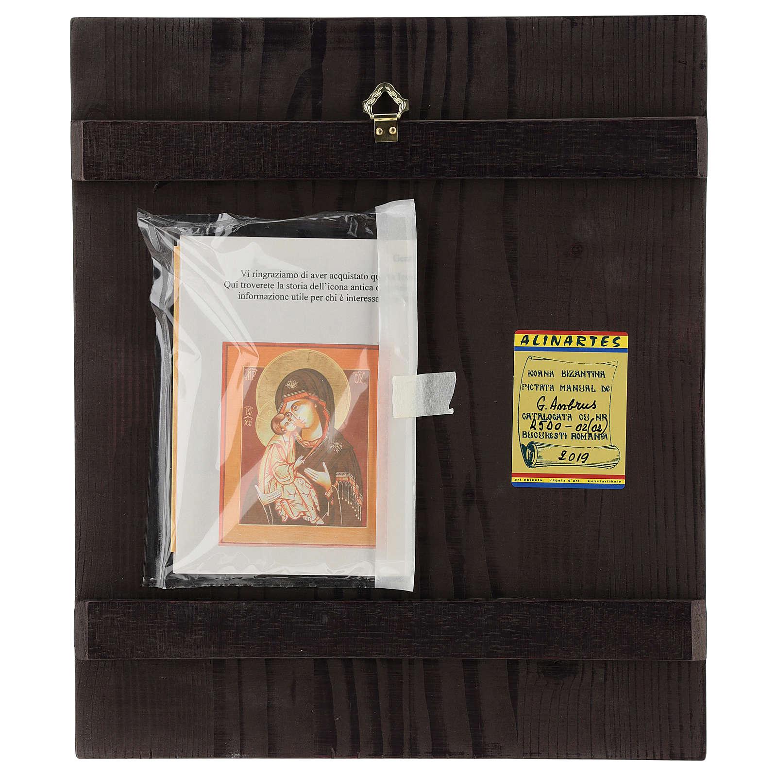 Icône Mère de Dieu Donskaja 33x28 cm Roumanie peinte style  russe 4