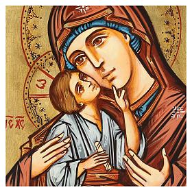 Icona Romania Madonna con Bambino decori incisi s2