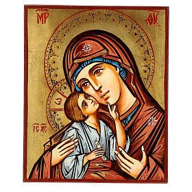 Icona Romania Madonna con Bambino decori incisi s1