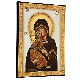 Icône Vierge de Vladimir byzantine 40x30 cm Roumanie peinte s3