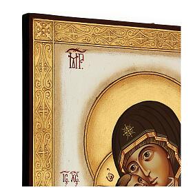 Icona Madonna Tenerezza Vladimirskaja bizantina 40x30 cm Romania dipinta s4