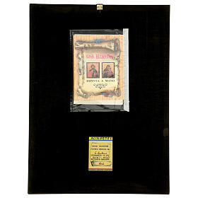 Icona Madonna Tenerezza Vladimirskaja bizantina 40x30 cm Romania dipinta s5