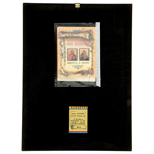 Icona Madonna Tenerezza Vladimirskaja bizantina 40x30 cm Romania dipinta 5