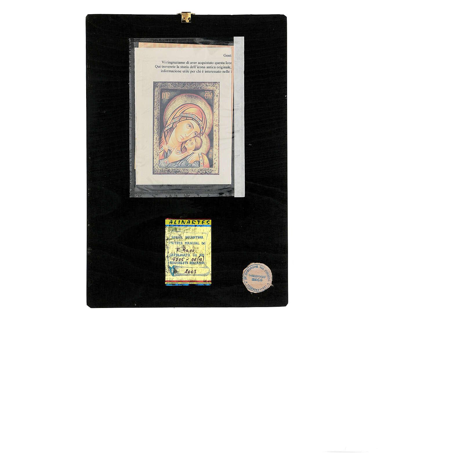 Icona Madre di Dio Kasperovskaja 30x20 cm dipinta Romania 4