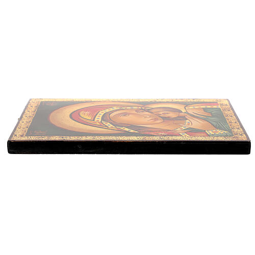 Icona Madre di Dio Kasperovskaja 30x20 cm dipinta Romania 3