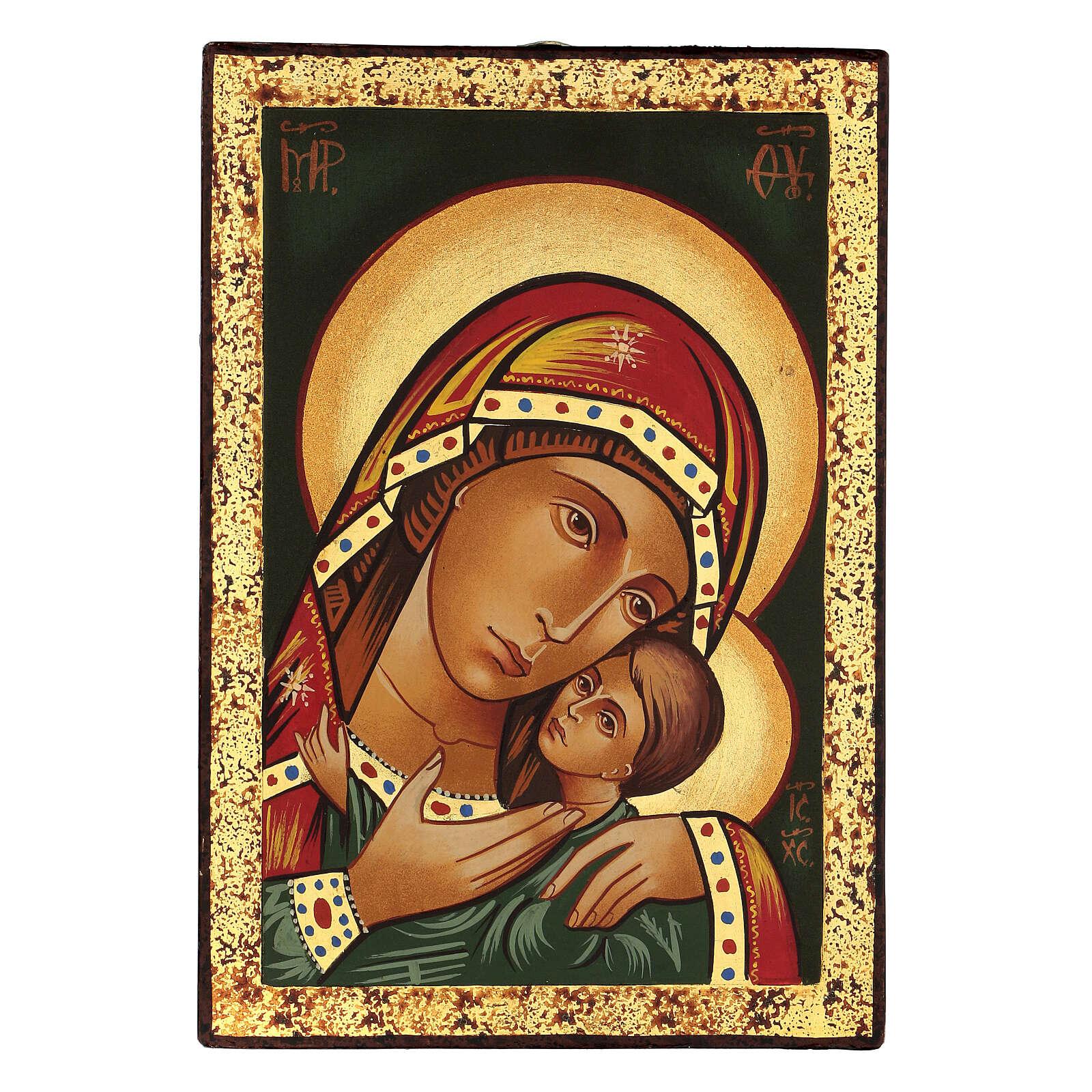 Korsunskaya icon 30x20 cm painted in Romania 4