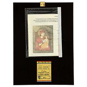 Icona Madre di Dio Hodighìtria-Smolénskaja 30x20 cm dipinta Romania s4