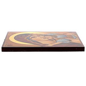 Icône Mère de Dieu de Mourom peinte Roumanie 30x20 cm s3