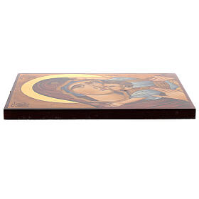 Icona Madre di Dio Muromskaja dipinta Romania 30x20 cm s3