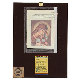Icona Madre di Dio Muromskaja dipinta Romania 30x20 cm s4