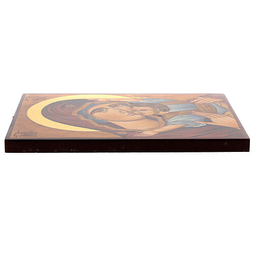 Icona Madre di Dio Muromskaja dipinta Romania 30x20 cm 3