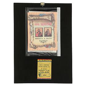 Icona Madonna Tenerezza Vladimirskaja 30x25 cm rumena dipinta s4