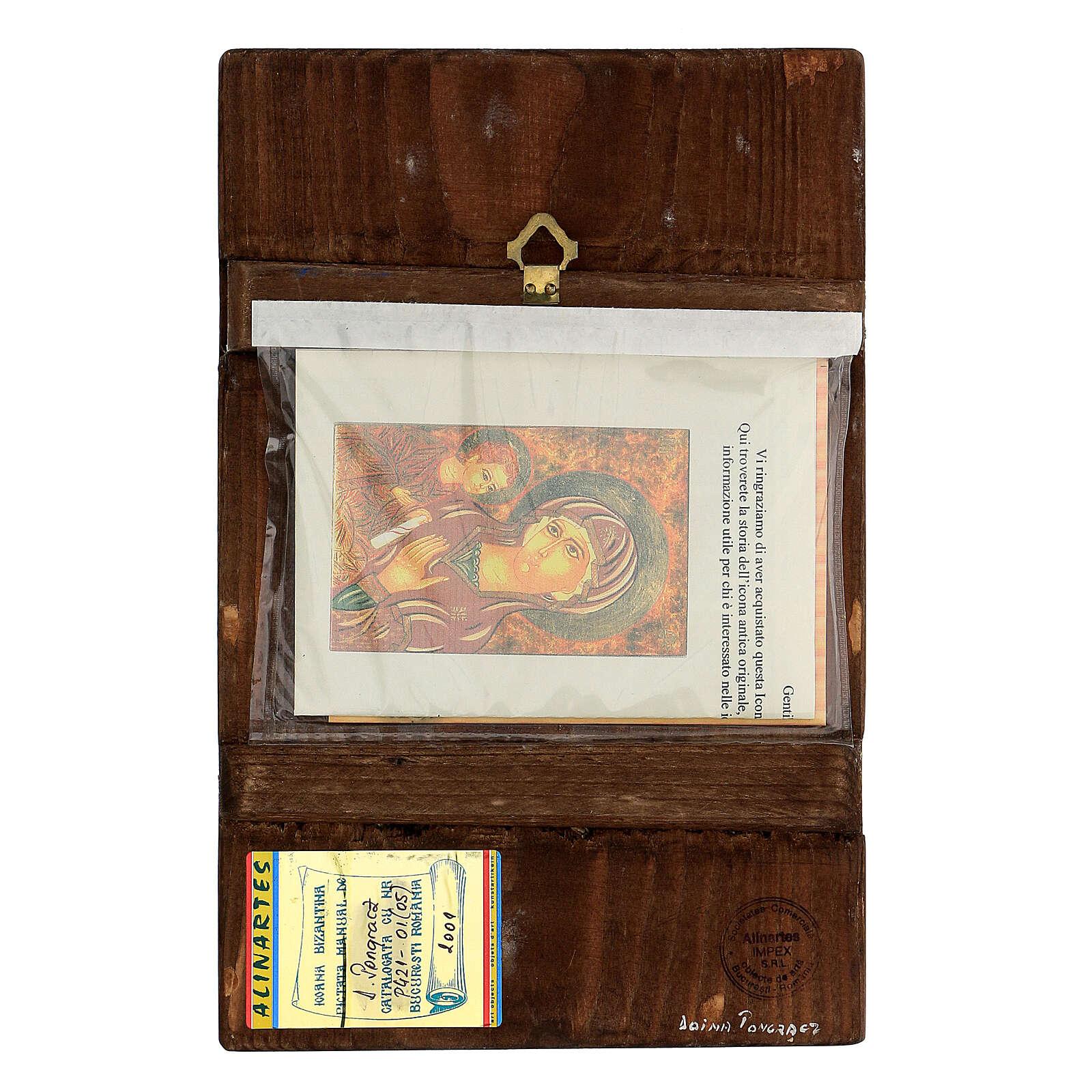 Icona Madre di Dio Gruzinskaja 30x20 cm Romania dipinta 4