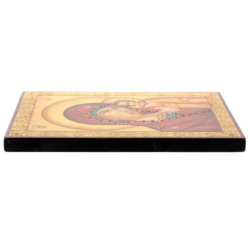 Icona Madre di Dio Kazanskaja 30x20 cm dipinta su legno Romania 3