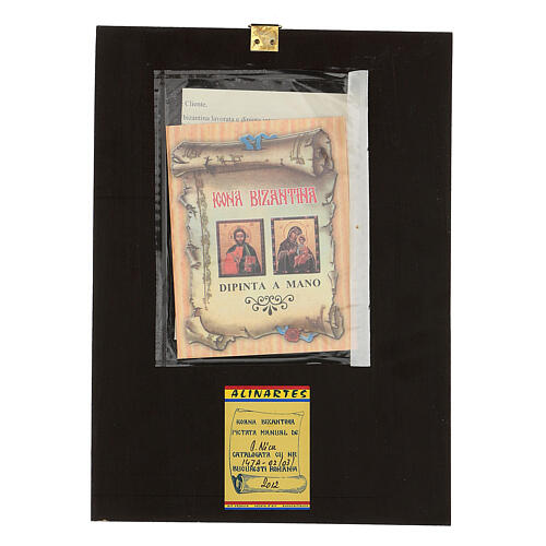 Icona Madre di Dio Jaroslavskaja 30x20 cm Romania dipinta 5